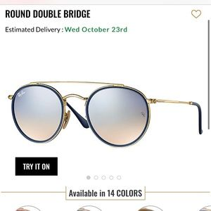 Ray ban double bridge round sunglasses